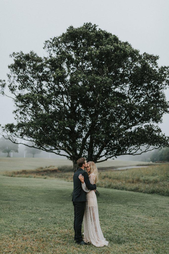 Sunshine Coast wedding couple outdoors